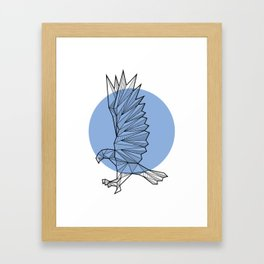 Eagle - Geometric Animals Framed Art Print