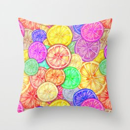 citrus slices Throw Pillow