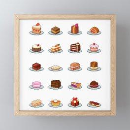 Pixel Cakes Framed Mini Art Print