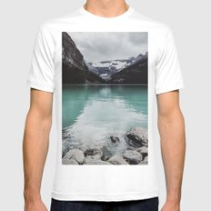 Lake Louise, Canada MEDIUM Mens Fitted Tee White