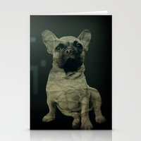 frenchie Stationery Cards featuring Frenchie by Mi Nu Ra