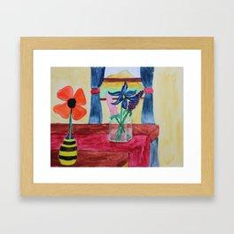 Flowers Inside Framed Art Print
