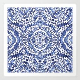 Abstract Indigo Pattern No.1 Art Print