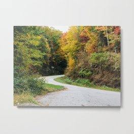 Winding Mountain Roads Through the Mountains in the Fall Metal Print