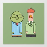 muppets Canvas Prints featuring Bunsen & Beaker – The Muppets by Big Purple Glasses
