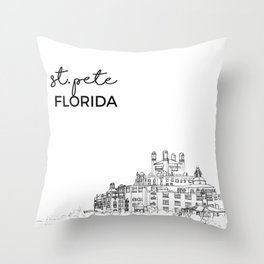 st. pete beach Throw Pillow