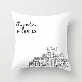 st. pete beach Throw Pillow