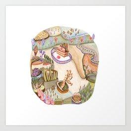 Rural castle Art Print