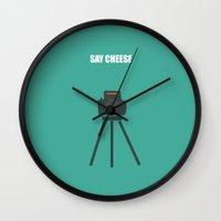 camera Wall Clocks featuring Camera by Suchita Isaac