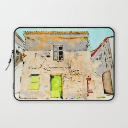 Tortora's building with small fountain Laptop Sleeve