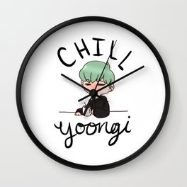 Chill Min Yoongi Wall Clock