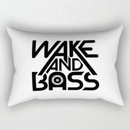 Wake And Bass (Black) Rectangular Pillow