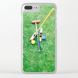 Summer Croquet Clear iPhone Case