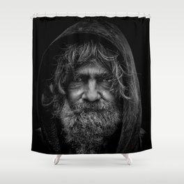 homeless man people 5 Shower Curtain