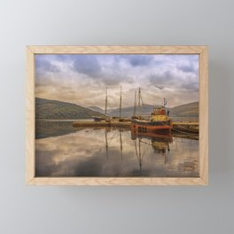 Evening at the Dock Framed Mini Art Print