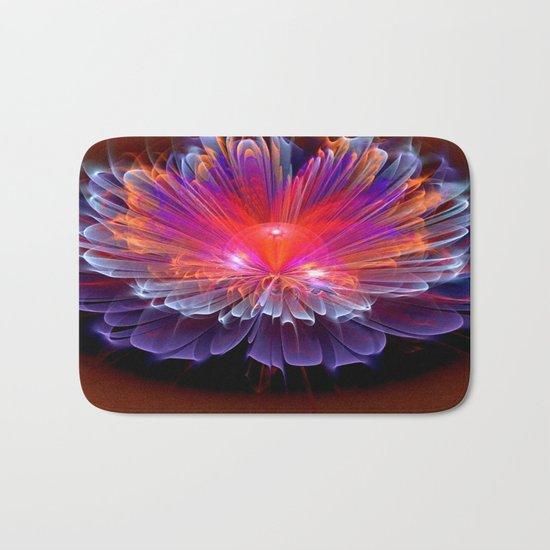 Neon Flower - A Vision all Aglow Bath Mat