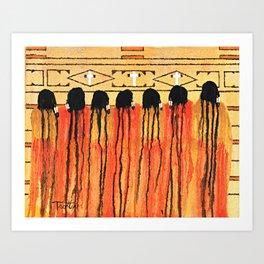 Chiefs Blanket SOLD Art Print