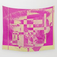pop art Wall Tapestries featuring Pop by MonsterBrown