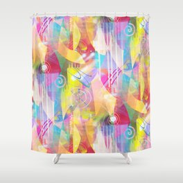 Summer Chaos Painted Shower Curtain