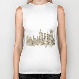Chicago Illinois Skyline Sheet Music Cityscape Biker Tank