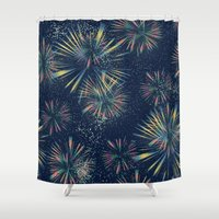 fireworks Shower Curtains featuring Fireworks! by LLL Creations