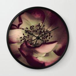 Edged in Burgundy Wall Clock