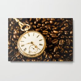 Time For Coffee Metal Print