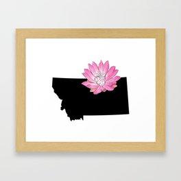 Montana Silhouette Framed Art Print