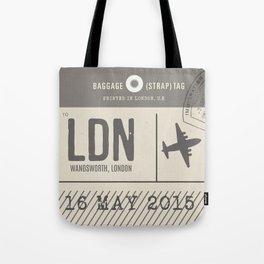 Travel Tag Natural Tote Bag