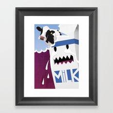 Where's the Milk? Framed Art Print