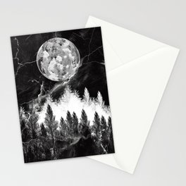 marble black and white landscape Stationery Cards