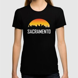 Sunset Skyline of Sacramento CA T-shirt