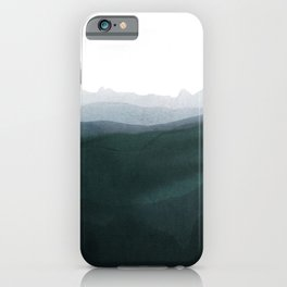mountain horizon 3 iPhone Case