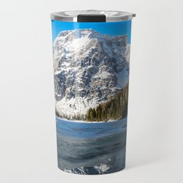 Snow Lake Mountain Landscape Travel Mug