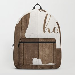 Oregon is Home - White on Wood Backpack
