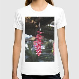 red exotic flower T-shirt