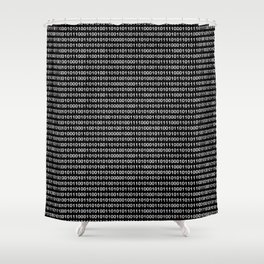 Binary Code in DOS Shower Curtain