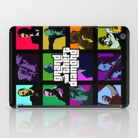 grand theft auto iPad Cases featuring Grand Theft Diamond Snatchers by Ant Atomic