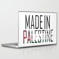 palestine Laptop & iPad Skins featuring Made In Palestine by VirgoSpice