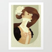 lace Art Prints featuring Lace by Jumei
