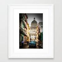 cuba Framed Art Prints featuring Cuba by mirelfis