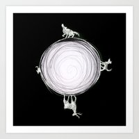 marauders Art Prints featuring Marauders Moon by srw110