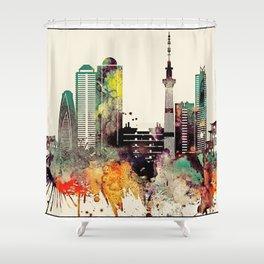 Tokyo City Skyline Shower Curtain
