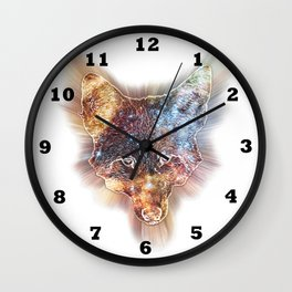 Star Coyote Wall Clock