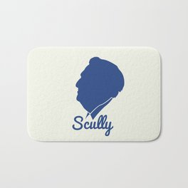 Vin Scully Silhouette  Bath Mat