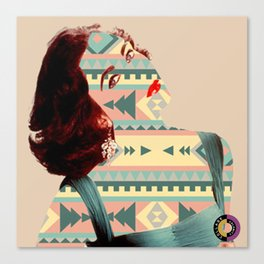 Elizabeth Taylor Has A Pattern Canvas Print