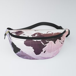 Worldwide Marketing Platform for Advertising Industry Concept Fanny Pack