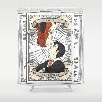 tarot Shower Curtains featuring Harry Potter Tarot by Luke Eckstein