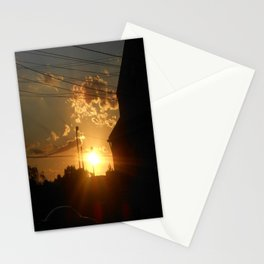 Urban City Sunset Stationery Cards
