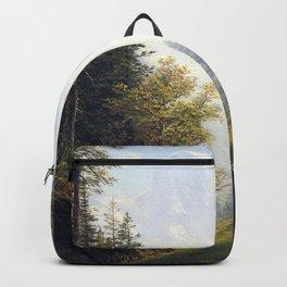 Albert Bierstadt - Among the Bernese Alps Backpack